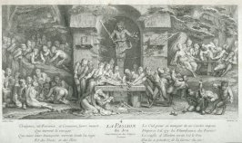La Passion du Jeu (The passion of Gambling) expressed by Satyr gamblers.