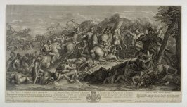 From the Battles of Alexander the Great: Alexander attacking Perseus