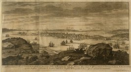 View of Carlscrona, from Suecia Antiqua et Hodierna (Ancient and Modern Sweden)
