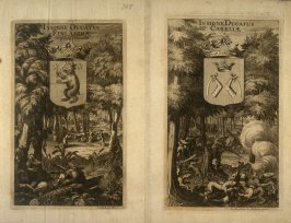Scandinavian Coats of Arms, from Suecia Antiqua et Hodierna (Ancient and Modern Sweden)