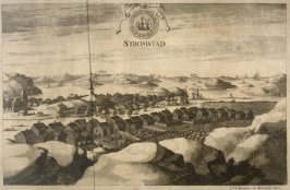 View of Stromstad, from Suecia Antiqua et Hodierna (Ancient and Modern Sweden)