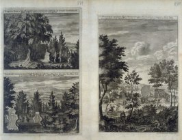Memorial Monuments in a Landscape, from Suecia Antiqua et Hodierna (Ancient and Modern Sweden)