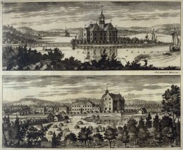 Sundholm and Torpa Castle, from Suecia Antiqua et Hodierna (Ancient and Modern Sweden)