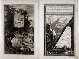 Coat of Arms Iemtiae / Sacred Stone, from Suecia Antiqua et Hodierna (Ancient and Modern Sweden)