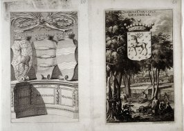 Coat of Arms Angermannia / Gestriciae Melpadia, from Suecia Antiqua et Hodierna (Ancient and Modern Sweden)