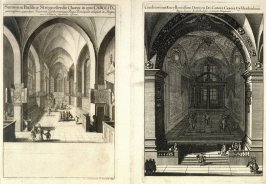 Church Interiors, from Suecia Antiqua et Hodierna (Ancient and Modern Sweden)
