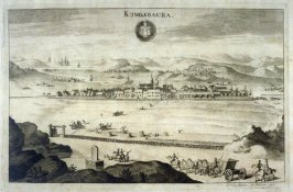 Kungsbacka, from Suecia Antiqua et Hodierna (Ancient and Modern Sweden)