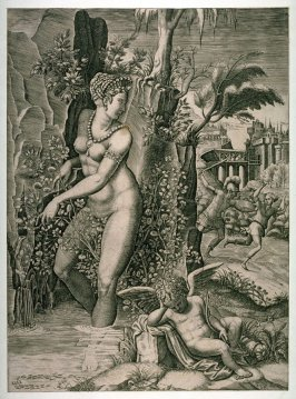 Venus and the Rose, after the engraving by Giorgio Ghisi after Luca Penni