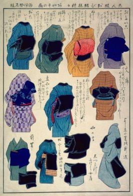 Ways to Tie an Obi, A New Publication (Shimpan obi musubisama kusagusa)