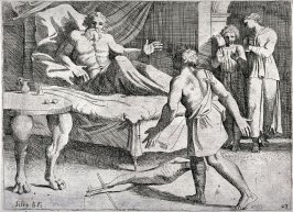 Isaac Grants a Second Blessing at Esau's Insistence, from the series of etchings Biblical Scenes, after the frescoes by Raphael in the Vatican Loggia