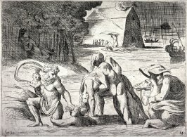 The Deluge, from the series of etchings Biblical Scenes, after the frescoes by Raphael in the Vatican Loggia
