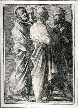 Three Saints and a Man, after Raphael