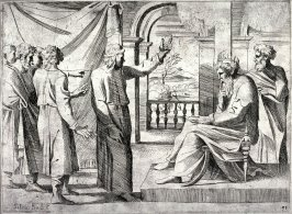 Joseph Interpreting Pharaoh's Dreams, from the series of etchings Biblical Scenes, after the frescoes by Raphael in the Vatican Loggia