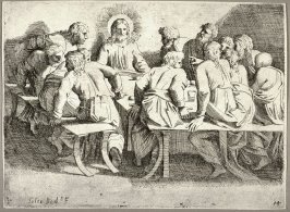 The Last Supper, from the series of etchings Biblical Scenes, after the frescoes by Raphael in the Vatican Loggia