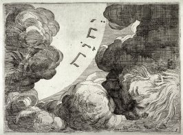 God Separating the Light from the Darkness, from the series of etchings Biblical Scenes, after the frescoes by Raphael in the Vatican Loggia