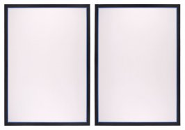 Untitled (Vertical Flanking Diptych-Blue)