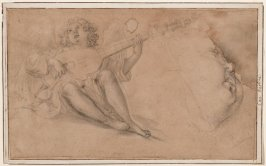 Recto: Angel Playing a Lute and Profile of a Child's FaceVerso: Angel Playing a Lyre