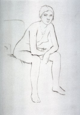 Untitled, trial proof (seated nude leaning forward)