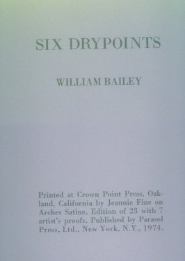 Title page for Six Drypoints