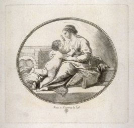 Madonna & Child In Oval