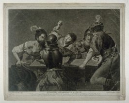 Soldiers Quarreling At Dice (aft. Valentini), from the series 'The Most Capital Paintings in England'