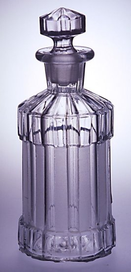 Cologne bottle with stopper
