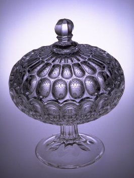 Compote with lid Argus pattern