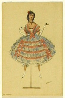 Une poupée espagnole, no. 4 from the series Costume for La Fée des poupées
