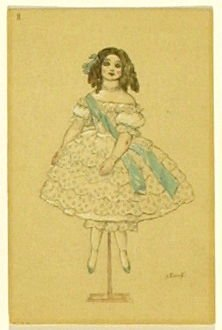 Une poupée en porcelaine, no. 8 from the series Costume for La Fée des poupées