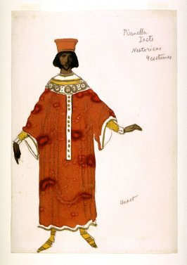 Costume design for a Nestorian in act 1 of the drama La Pisanella ou la morte parfumée (Pisanella or The Perfumed Death)
