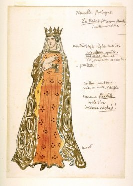 Costume design for the Queen in the prologue of the drama La Pisanella ou la morte parfumée (Pisanella or The Perfumed Death)