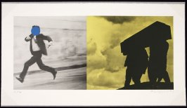 Fly for my life from A Suite of 5 Lithographs for Tristram Shandy