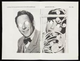 """Ninth double-page images ( """"Looking with that perplexed vacuity of eye..."""") in volume 3 of the book The Life and Opinions of Tristram Shandy, Gentleman by Laurence Sterne (San Francisco: Arion Press, 1988)"""