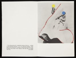"""Fifteenth double-page image ( """".–Tis a long journey, sir, replied the master of the inn..."""") in volume 3 of the book The Life and Opinions of Tristram Shandy, Gentleman by Laurence Sterne (San Francisco: Arion Press, 1988)"""