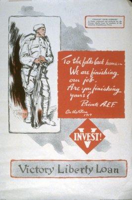 To the Folks Back Home - World War I poster