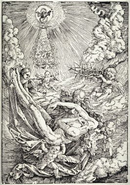 The Dead Christ Carried By Angels
