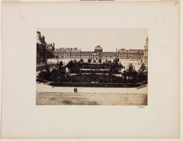 The Louvre and Tuileries, plate 7 of the album Vues de Paris en photographie (Photographic Views of Paris)