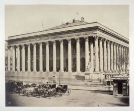 #19: Bourse and Tribune de Commerce) from Vues de Paris en Photographie