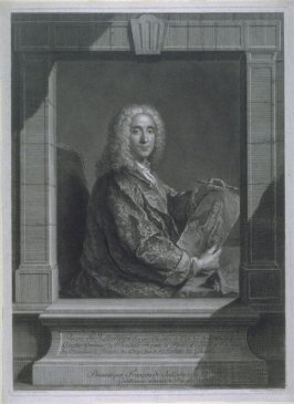 Portrait Of Jean De Julienne, Holding A Portrait Of Watteau