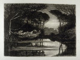 Sark Pond, plate 7 in the book, The Etcher (London: Sampson Low…, 1880), vol. 2 [bound in same volume as vol. 1, 1879]