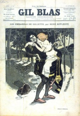 "Les Embarras de Gillete, by Rene Boylesve from the Paris Daily ""Gil Blas"" (13 January 1897)"