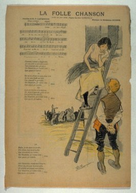 """La Folle Chanson (song) from the Paris Daily """"Gil Blas"""""""