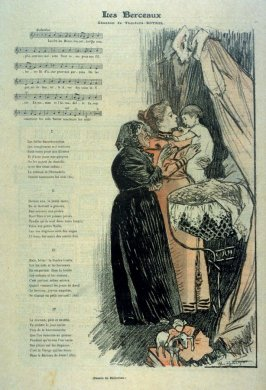 """Les Berceaux (song) from the Paris Daily """"Gil Blas"""""""