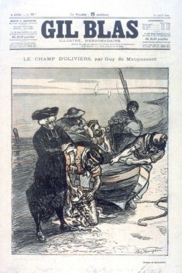 """Le Champ d'Olviers, by Guy de Maupassant from the Paris Daily """"Gil Blas"""" (19 August 1894)"""