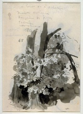 """Studies for """"Wuthering Heights"""": Sketch of a Tree / verso:Tree"""