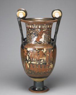 Red-figure volute krater (wine vessel)