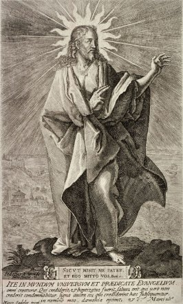 Christ Standing On An Eminence In A Broad Landscape