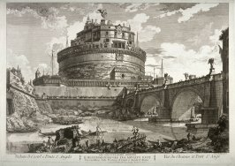 View of Castle and Bridge of San Angelo (Views of Rome)