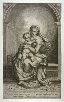 The Virgin Holding The Infant Christ En Sincerus Amor
