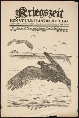 cover image, first illustration in Strassenecke in Warschau in Kriegszeit, No. 28, February 24, 1915